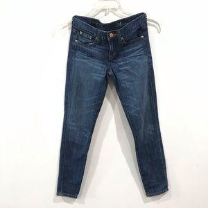 {J.Crew} Toothpick Skinny Ankle Jeans